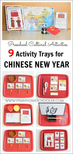 Preschool Activities for the Chinese New Year 9 Montessori inspired Chinese New Year activity trays