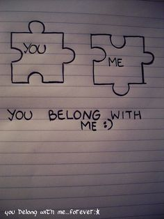 You belong with Me - Trend Being Fooled Quotes 2019 Cute Easy Drawings, Art Drawings Sketches Simple, Pencil Art Drawings, Love Drawings, Drawing S, Romantic Quotes, Love Quotes, Inspirational Quotes, Cute Relationships