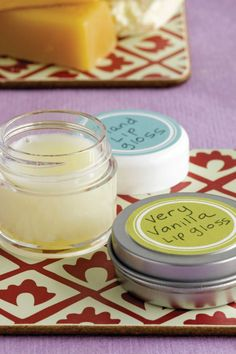 For a sweet homemade gift, whip up this beeswax-based Very Vanilla Lip Gloss recipe.