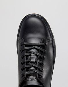 buy online 7000c 17bac Dr.Martens – Fusion – Glattschwarze Sneaker mit 6 Ösen