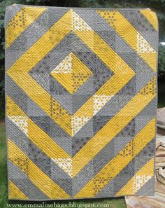 A Modern Wedding Quilt - Cutting, Piecing, and Quilting Instructions For YOU! - Emmaline Bags and Patterns