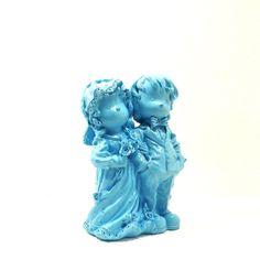 wedding, bride and groom figurine  //  weddings, wedding decor, turquoise, married, couple, marriage