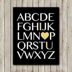 ABC Print 8x10 Instant Download ABC Nursery by MossAndTwigPrints