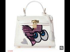 Playnomore bag white base, mat white with pink shining heart bag 2015