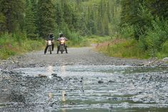 Near the Denali Highway. Alaska Backcountry Explorer Motorcycle Adventure with MotoQuest 2015 : https://www.motoquest.com/guided-motorcycle-tour.php?alaska-motoquest-camp-36