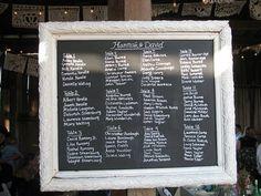 chalkboard seating