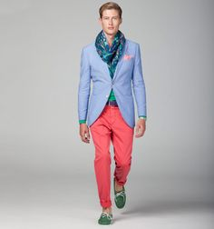 Great use of coordinating and complementary colors. Hackett S/S 2012