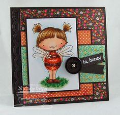 Doodle Garden Sweet as Can Bee; Open Simply Scallops Trio Die-namics; Blueprints 2 Die-namics - Michele Boyer