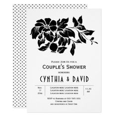 Vintage flowers floral wedding bcouples shower card - wedding invitations diy cyo special idea personalize card