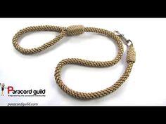 Braided paracord dog leash- herringbone style - YouTube