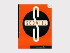 Scovill Condenser Tubes, 1943    Designer  Ladislav Sutnar (1897-1976)    Client    Scovill Manufacturing Company, USA      The inside spread makes product choices simple via a design of visual impact and logical organization. As art director for Sweet's Catalog Service (1941-60) and a freelance consultant, Sutnar and his team designed numerous industrial catalogs and pioneered the way for clear and practical information design.