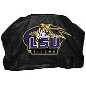 Seasonal Designs - 59 in. NCAA LSU Grill Cover - This heavy duty durable vinyl cover with flannel backing and a drawstring is weather and crack resistant to extend the life of your grill. Fits most cart style gas grills. Kitchen Island Grill, Black Site, Gas Grill Covers, Patio Furniture Covers, Furniture Design, Louisiana State University, Vinyl Cover, Lsu Tigers, Grilling