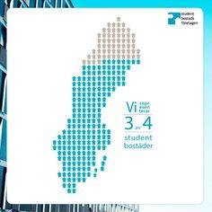 Vi är branschorganisationden för de företag som äger och förvaltar studentbostäder runt om i Sverige. Vi representerar över 50 aktörer och drygt 63 000 bostäder. (2011)
