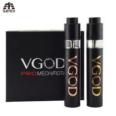 Bon clone VGOD Pro Mech Mod Kit 24mm Diamètre vaporisateur avec côté de remplissage 4 ml rda réservoir E cigarette mécanique mod 510 fil