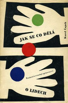 Czechoslovakian book cover, 1960, Karel Čapek, Jak se co dělá - O lidech