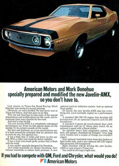 1971 AMC Javelin AMX  by coconv, via Flickr