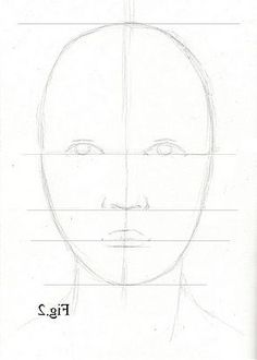 Realistic Portrait Drawing Pencil Portrait Mastery - Drawing lesson for Beginner artists: Proportions of the face, front view - Step 3 : Guidelines - Discover The Secrets Of Drawing Realistic Pencil Portraits Drawing Lessons, Drawing Techniques, Drawing Tips, Drawing Sketches, Art Lessons, Drawing Drawing, Drawing Ideas, Learn Drawing, Face Sketch