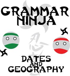 Grammar Ninja - Commas w/ Dates and Geography product from CreatedForLearning on TeachersNotebook.com
