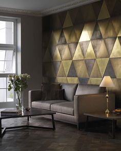 A brass wall creates such a cool feature wall. By De Castelli • • • • • #interior #interiordesign #architecture #interiorinspo #interiorinspiration #interiors #style #inspo #inspiration #decor #theworldofinteriors #chandelier #luxury #mansion #home #homedecor #interiordesigner #design #homedesign #adstyle #elledecor #interiorinspiration #interiors #homedesign #decoration #decorlovers #art #vogueliving #interiordecorating #livingroom