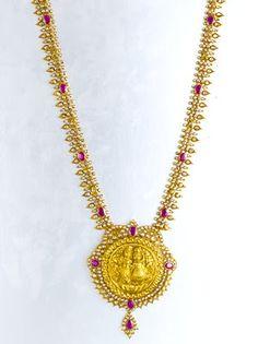Beautiful temple jewellery withbstones