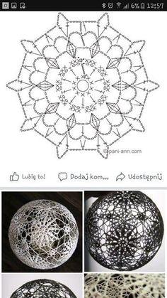 Witam:) To co wczoraj zobaczyłam na swojej tablicy na FB S - SalvabraniHanne Fagerås's media content and analytics Crochet Snowflake Pattern, Crochet Motifs, Crochet Snowflakes, Crochet Diagram, Free Crochet, Crochet Christmas Ornaments, Christmas Crochet Patterns, Handmade Ornaments, Christmas Crafts