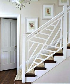 love that stair railing! so much better than the traditional railing