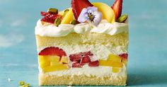 Like the idea of smothering mangoes and strawberries in cream and sandwiching them between Madeira cake? So do we! With this delicious no-bake dessert recipe, you don't even need to turn the oven on.