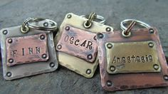 Pet Tags - Dog Tag - Pet ID Tag - Pet Tag - Mixed Metals Copper, Brass or Nickel on Etsy, $9.50