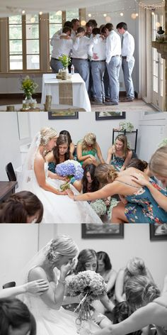 Praying before the Ceremony | Shayla J. Photography #weddingphotography #praying #wedding