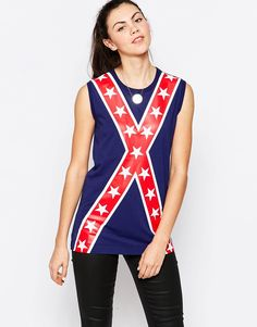 Look ASOS I know you're a British company but to Americans this shirt is reminiscent of the CONFEDERATE FLAG