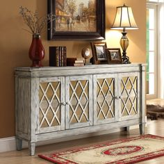 Credenza // Home Interior Warehouse // perfect storage solution for your dining room Credenza Decor, Dining Room Sideboard, Dining Room Storage, Large Sideboard, Large Bookcase, Parks Furniture, Building Furniture, Painting Furniture, Mirror Cabinets
