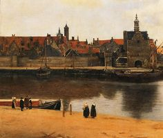 View Of Delft Painting by Jan Vermeer