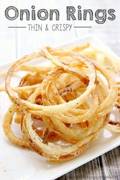 These Thin and Crispy Onion Rings are perfect for burgers, as a side dish or eat them for a snack! You might want to double the recipe though – they're addicting! You have to wonder how something so simple can be so darn good?! #onionrings #sidedish #snacks Call me crazy, but I love onions! I especially...Read More