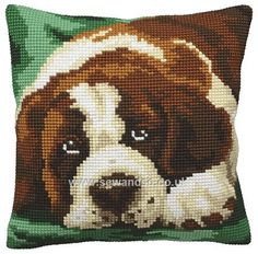 Buy Bernie Cushion Front Chunky Cross Stitch Kit Online at www.sewandso.co.uk
