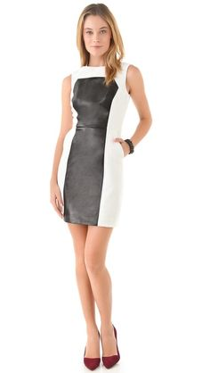<< Milly Nina Leather Panel Dress >>