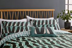 Introducing the new Pedro bedding from Scion, a friendly design to add to the hit range. Choose from four sizes of duvet cover (single, double, king and super king) in a fresh Aqua colourway, printed on 100% brushed cotton Blue Bedroom, Aqua Blue, Comforters, Duvet Covers, Blanket, Prints, Inspiration, Home, Design