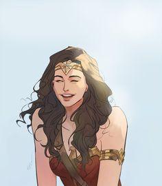 Wonder Woman by Huang Danlan Wonder Woman Fan Art, Wonder Woman Drawing, Wonder Woman Quotes, Wonder Woman Comic, Beste Comics, Super Heroine, Chibi, Arte Dc Comics, Dc Characters