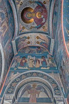 Grigore Popescu - Pictura murala, icoane, pictura sevalet, restaurare Byzantine Icons, Sacred Art, Kirchen, Fresco, Architecture, Painting, Orthodox Icons, Arquitetura, Fresh