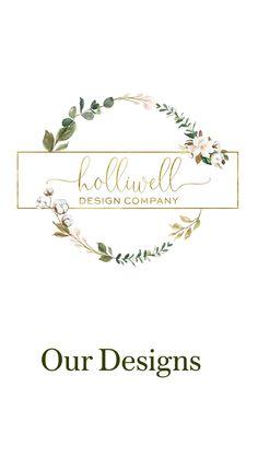 Logo Floral, Flower Logo, Logo Fleur, Logo Online Shop, Ribbon Logo, Flower Drawing Tutorials, Nail Salon Design, Craft Logo, Wreath Drawing
