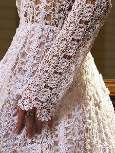 Красивая идея вязаного крючком свадебного платья !. Обсуждение на LiveInternet - Российский Сервис Онлайн-Дневников