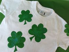 shamrock shirt - Linked to how to site and has a template for the shamrocks.