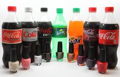 Coca-Cola by OPI Swatches. Such a cool idea by OPI & Coke!