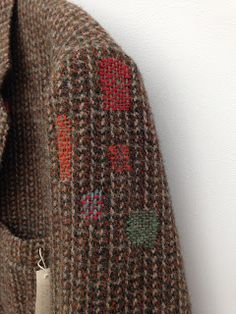 Visible mending didyoumakeityourself: Harris Tweed Visible Mending A Healthy Guide to Good Nutrition Japanese Sewing, Japanese Embroidery, Harris Tweed Jacket, Harris Tweed Fabric, Wool Shop, Sewing Magazines, Visible Mending, Make Do And Mend, Textiles