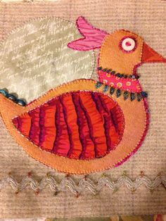 Bird Dance wool and cotton applique BOM by Susan Edmonson