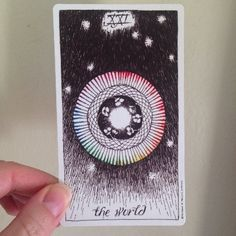 The World - Wild Unknown Tarot - Detailed card meaning & description of symbols in the image! http://happyfishtarot.com/blog/the-world-wild-unknown-tarot/