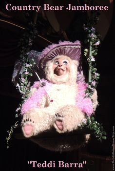 Teddi Barra, from the Country Bear Jamboree, in the Frontierland area of the Magic Kingdom at Disney World. #CountryBears