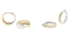 Two tone gold hoop earrings  | Brisbane Jewellery | Gold Jewellery Brisbane | MONTASH Jewellery Design | www.montash.com.au