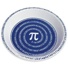Mathematical Pi Symbol Pie Plate – Mother's Day « Blast Gifts Mathematical Pi, Pie And Tart Pans, Pi Pie, March Holidays, Pi Math, Pi Symbol, Happy Pi Day, Science Gifts, Food Science