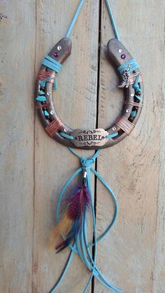 Rebel Feather Horseshoe Lucky Horseshoe Art