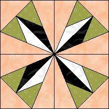 Block of Day for March 25, 2014 - Half Diamond Kaleidoscope